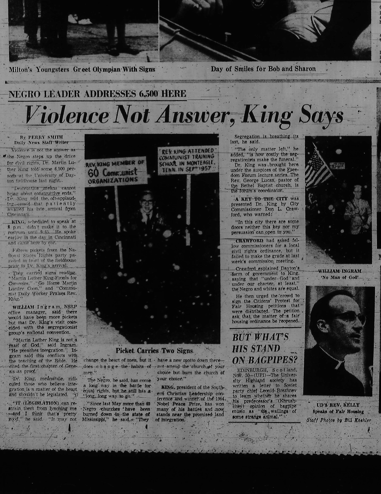 Martin Luther King Jr In Dayton 1964 A Discovery